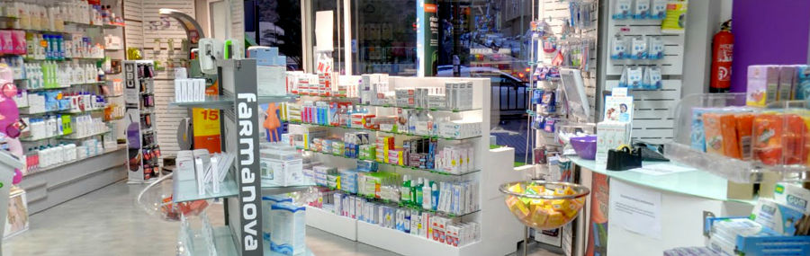 "Vista de la farmacia a ""pie de local"""